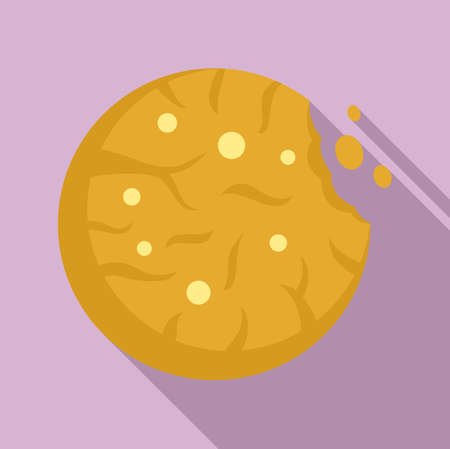 Swedish cookie icon, flat style