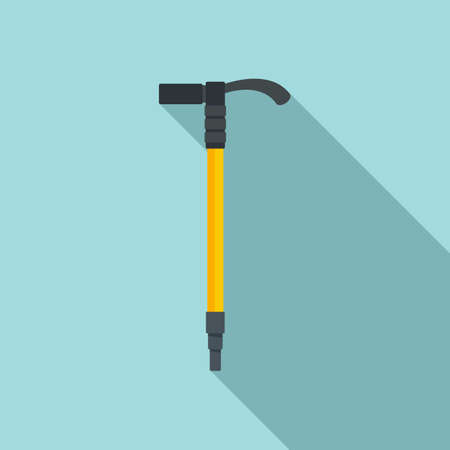 Industrial climber axe icon, flat style