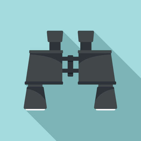 Industrial climber binoculars icon, flat style