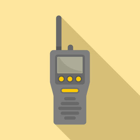 Industrial climber walkie talkie icon, flat style 일러스트