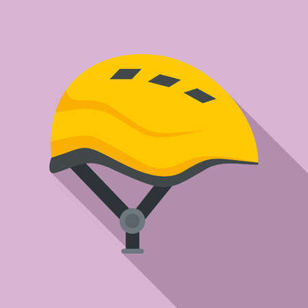 Industrial climber modern helmet icon, flat style