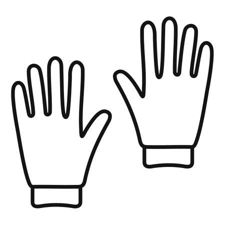 Industrial climber gloves icon, outline style