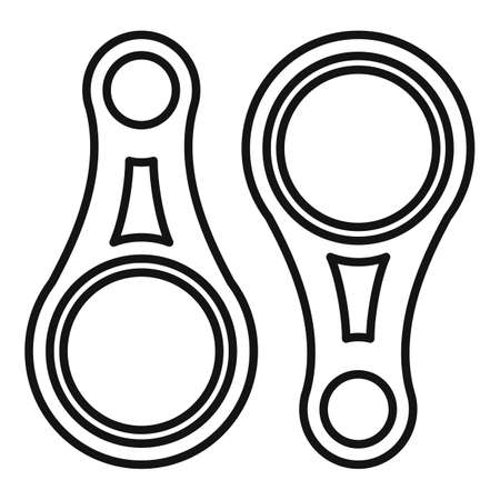 Industrial climber connect tool icon, outline style