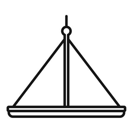 Industrial climber platform icon, outline style