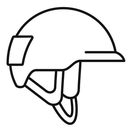 Industrial climber helmet icon, outline style Ilustracja