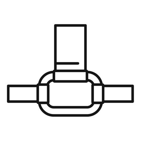 Industrial climber connect ring icon, outline style