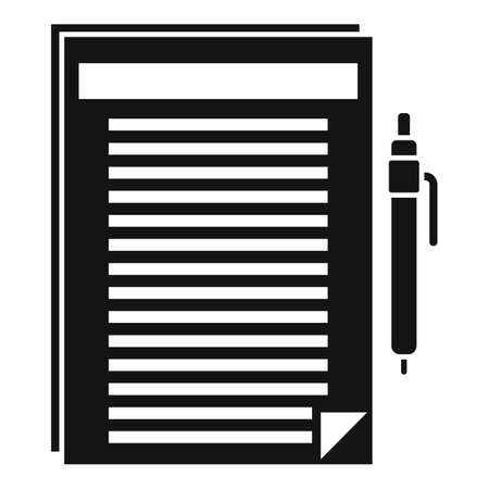 documents icon, simple style