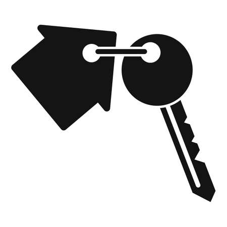 house key icon, simple style