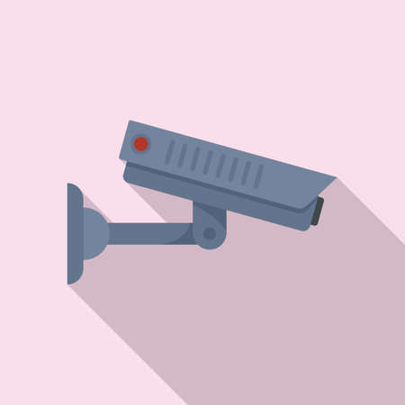Home security camera icon, flat style