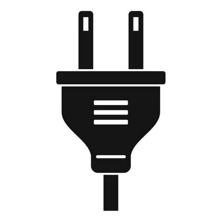 Electric plug icon, simple style