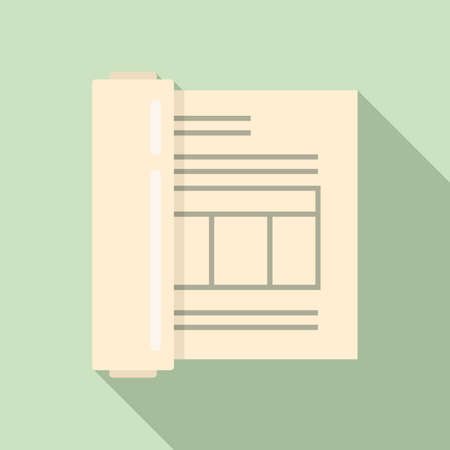Plan estimator icon, flat style
