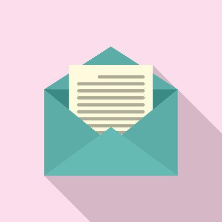 Estimator mail icon, flat style