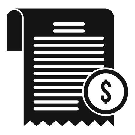 Estimator bill icon, simple style