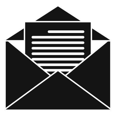 Estimator mail icon, simple style