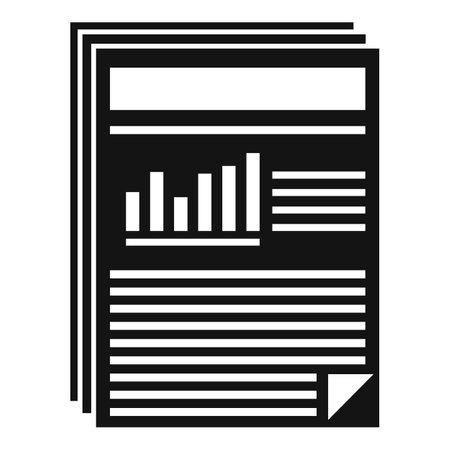 Estimator capital icon, simple style 向量圖像