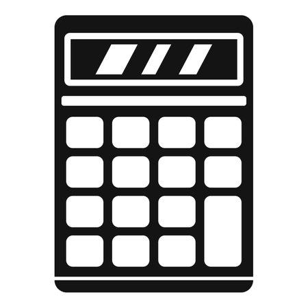 Calculator estimator icon, simple style