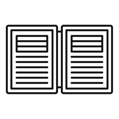 Electronic book estimator icon, outline style