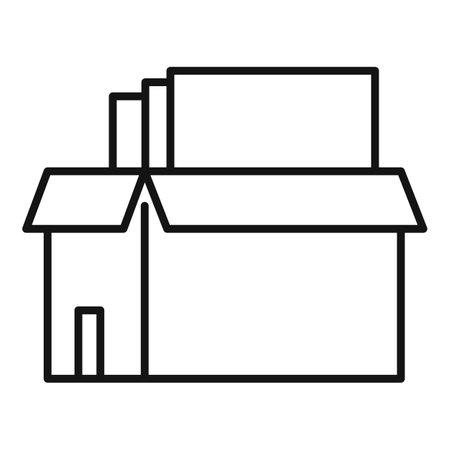 Box documents estimator icon, outline style