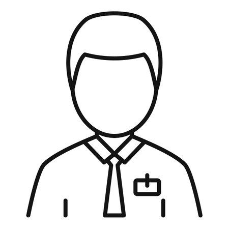 Man estimator icon, outline style Vektoros illusztráció
