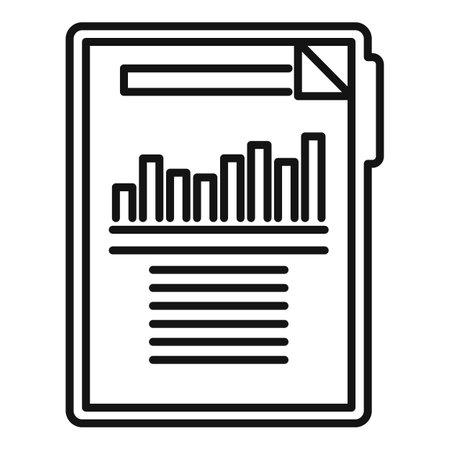 Estimator clipboard icon, outline style