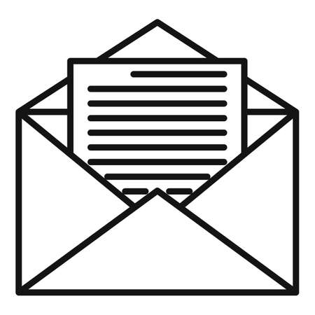 Estimator mail icon, outline style