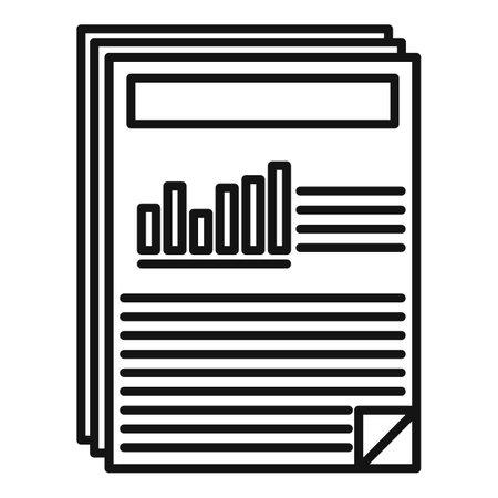 Estimator capital icon, outline style Vektoros illusztráció