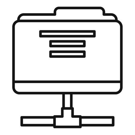 Estimator shared folder icon, outline style