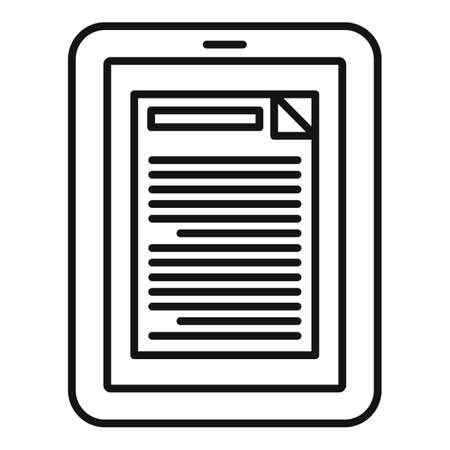 Tablet estimator icon, outline style