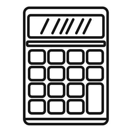 Calculator estimator icon, outline style Vektoros illusztráció