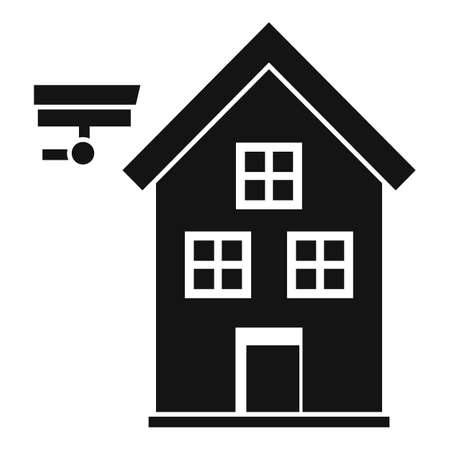 Secured home icon, simple style