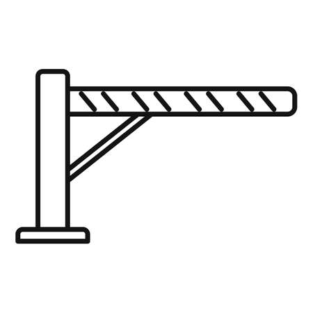Guard barrier icon, outline style
