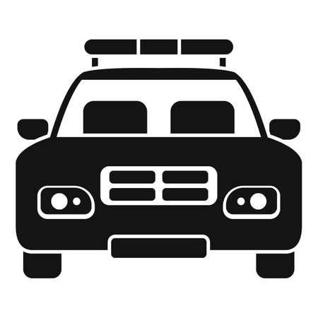 Police car icon, simple style