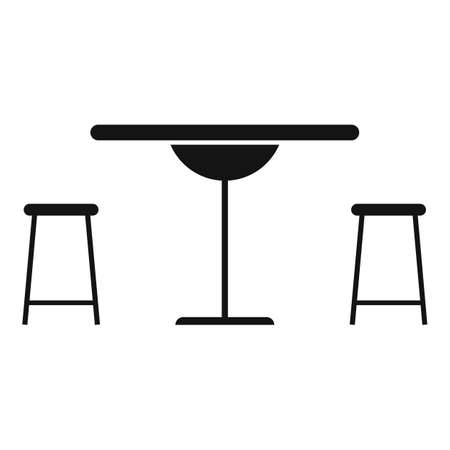 Street cafe table icon, simple style
