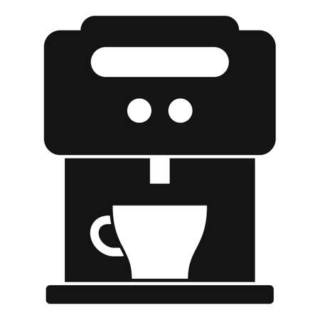 Home coffee machine icon, simple style