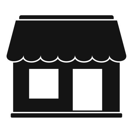 Street coffee shop icon, simple style Illustration