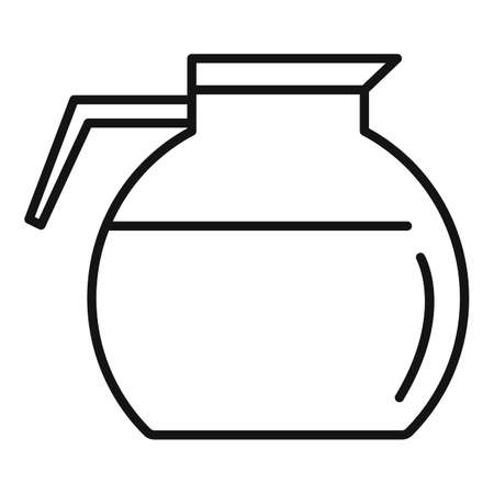 Coffee glass pot icon, outline style