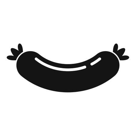 Milk sausage icon, simple style