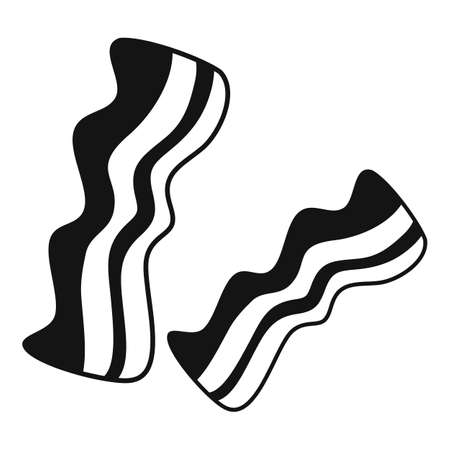 Bacon meat icon, simple style Illustration
