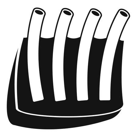 Cow meat icon, simple style Ilustração