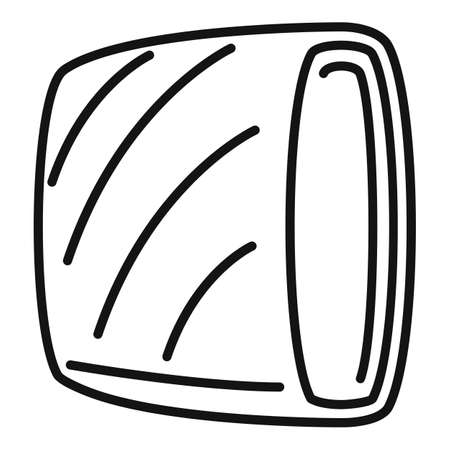Raw meat icon, outline style