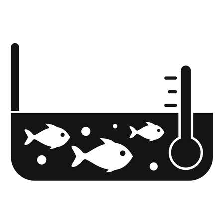 Fish farm pool icon, simple style