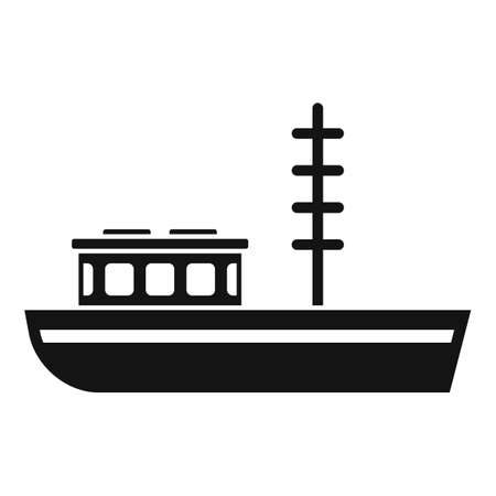 Fishing boat icon, simple style