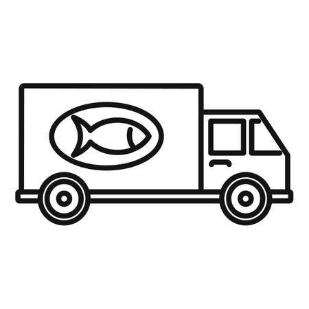 Fish farm delivery icon, outline style