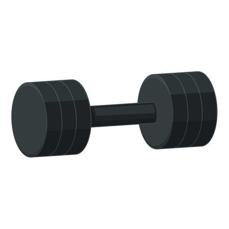 Gym dumbbell icon, cartoon style