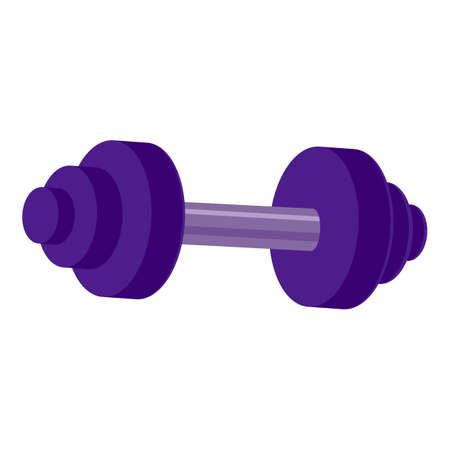 Weight dumbbell icon, cartoon style