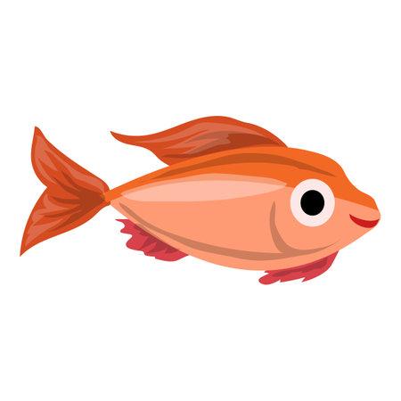 Aquarium fish icon, cartoon style