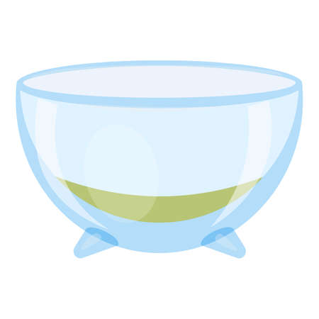 Bowl aquarium icon, cartoon style