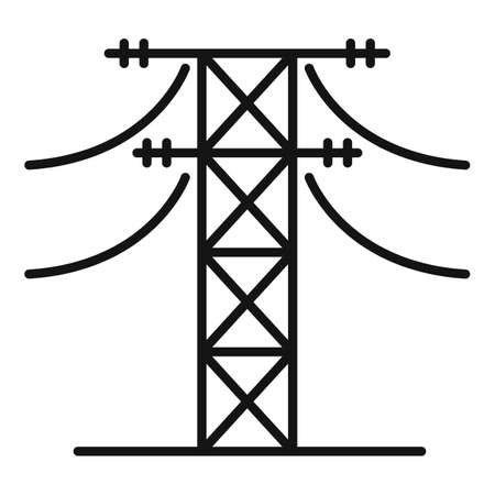 Energy electric tower icon, outline style Illustration