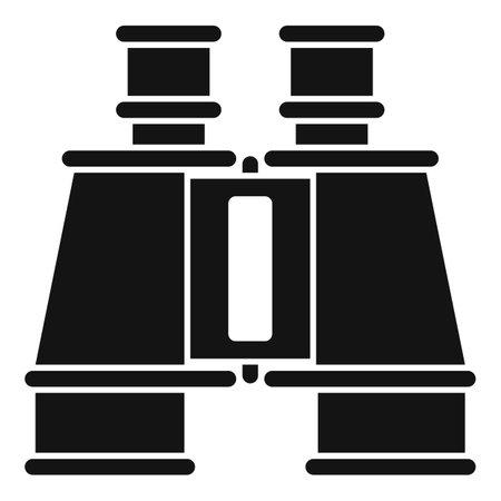 Investigator binoculars icon, simple style