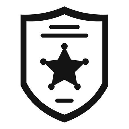 Investigator police shield icon, simple style